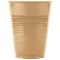 Creative Converting 28103081 16 oz. Glittering Gold Plastic Cup - 20 / Pack