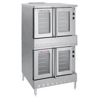 Blodgett SHO-100-G Liquid Propane Double Deck Full Size Convection Oven - 100,000 BTU