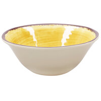 Carlisle 5400413 Mingle 27 oz. Amber Melamine Ice Cream Bowl - 12 / Case