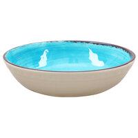 Carlisle 5401315 Mingle 4.8 qt. Aqua Melamine Large Serving Bowl - 6 / Case