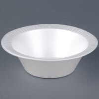 Dart Solo 12BWWQR Quiet Classic 10-12 oz. White Laminated Round Foam Bowl - 1000/Case