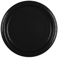 Creative Converting 47134B 9 inch Black Velvet Paper Dinner Plate - 24 / Pack