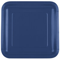 Creative Converting 463278 9 inch Navy Blue Square Paper Plate - 18 / Pack