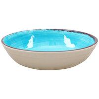 Carlisle 5401915 Mingle 35.5 oz. Aqua Melamine Cereal Bowl - 12 / Case