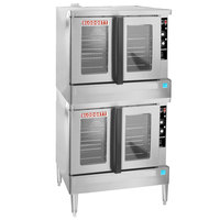 Blodgett ZEPHAIRE-100-G Double Deck Natural Gas Full Size Standard Depth Convection Oven with Draft Diverter - 100,000 BTU