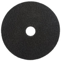 3M 7200 10 inch Black Stripping Floor Pad - 5/Case