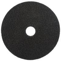 3M 7200 10 inch Black Stripping Pad - 5/Case