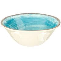 Carlisle 5400415 Mingle 27 oz. Aqua Melamine Ice Cream Bowl - 12 / Case