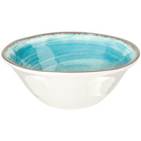Carlisle 5400415 Mingle 27 oz. Aqua Melamine Ice Cream Bowl - 12/Case