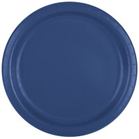 Creative Converting 471137B 9 inch Navy Paper Dinner Plate - 24 / Pack