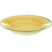 Carlisle 5400313 Mingle 28.5 oz. Amber Melamine Rimmed Soup Bowl - 6/Case