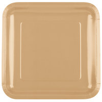 Creative Converting 463276 9 inch Glittering Gold Square Paper Plate - 18 / Pack