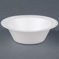 Dart Solo 35BWWQ Quiet Classic 3.5-4 oz. White Laminated Round Foam Bowl - 1000/Case