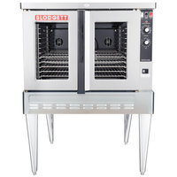 Blodgett ZEPHAIRE-100-G Single Deck Liquid Propane Full Size Standard Depth Convection Oven with Draft Diverter - 50,000 BTU