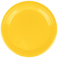 Creative Converting 28102121B 9 inch School Bus Yellow Plastic Dinner Plate - 50 / Pack