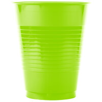 Creative Converting 28312381 16 oz. Fresh Lime Plastic Cup - 20 / Pack