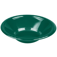 Creative Converting 28312451 12 oz. Hunter Green Plastic Bowl - 20 / Pack