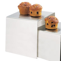 Cal Mil 239-8 8 inch Stainless Steel Open Cube Riser