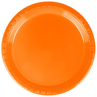 Creative Converting 28191011 7 inch Sunkissed Orange Plastic Plate - 20/Pack