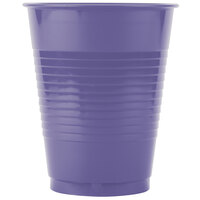 Creative Converting 28115081 16 oz. Purple Plastic Cup - 20 / Pack