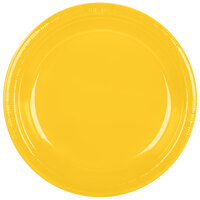 Creative Converting 28102131B 10 inch School Bus Yellow Plastic Banquet Plate - 50 / Pack