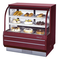 Turbo Air TCGB-48-2 Red 48 1/2 inch Curved Glass Refrigerated Bakery Display Case - 14.8 Cu. Ft.