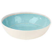 Carlisle 6401715 Grove 5.2 Qt. Aqua Large Melamine Serving Bowl - 6 / Case