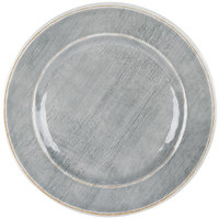Carlisle 6400418 Grove 12 1/2 inch Smoke Round Melamine Charger Plate - 12/Case
