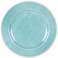 Carlisle 6400115 Grove 11 inch Aqua Round Melamine Plate - 12/Case