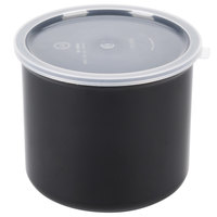 Carlisle 030403 4 Qt. Black Classic Crock with Lid - 6 / Case