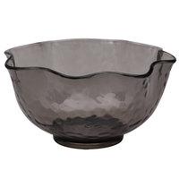 Carlisle TRA0518 Terra 28 oz. Smoke Ruffled Tritan Plastic Bowl - 24 / Case