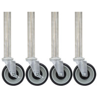 Advance Tabco TA-25S-4 Stainless Steel Legs with 5 inch Swivel Stem Casters - 4/Set