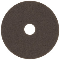3M 7100 16 inch Brown Stripping Floor Pad - 5/Case