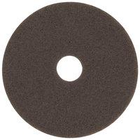 3M 7100 16 inch Brown Stripping Floor Pad - 5/Case