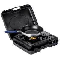 Portable 3-Piece Cooking Kit with Single Burner Butane Range, Fry Pan, and Pan Grip