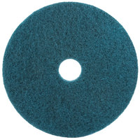 3M 5300 15 inch Blue Cleaning Floor Pad - 5/Case