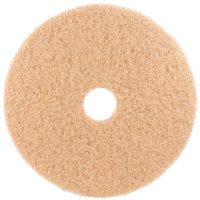 3M 3400 17 inch Tan Burnishing Floor Pad - 5/Case