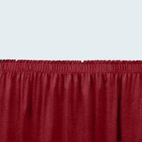 National Public Seating SS16-36 Burgundy Shirred Stage Skirt for 16 inch Stage - 15 inch x 36 inch