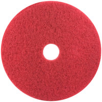 3M 5100 24 inch Red Buffing Floor Pad - 5/Case
