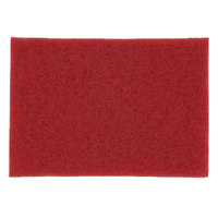 3M 5100 14 inch x 32 inch Red Buffing Pad - 10/Case