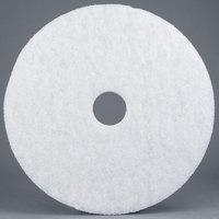 3M 4100 18 inch White Super Polishing Floor Pad - 5/Case