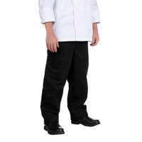 Chef Revival P020BK Size 4X Solid Black Baggy Chef Pants