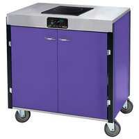 Lakeside 2060 Creation Express Mobile Cooking Cart with 1 Induction Burner, No Exhaust Filtration, and Purple Laminate Finish - 22 inch x 34 inch x 35 1/2 inch