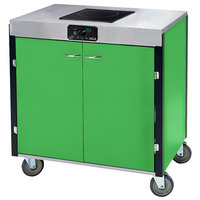 Lakeside 2060 Creation Express Mobile Cooking Cart with 1 Induction Burner, No Exhaust Filtration, and Green Laminate Finish - 22 inch x 34 inch x 35 1/2 inch
