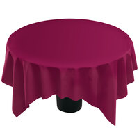 Hoffmaster 210433 82 inch x 82 inch Linen-Like Wine Table Cover - 12 / Case