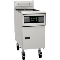 Pitco SG14SD Liquid Propane 40-50 lb. Floor Fryer with Digital Controls - 110,000 BTU