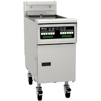 Pitco SG14TSC Liquid Propane 20-25 lb. Split Pot Floor Fryer with Intellifry Computer Controls - 100,000 BTU