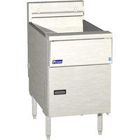 Pitco SG18SVS7 Liquid Propane 70-90 lb. Floor Fryer with 7 inch Touch Screen Controls - 140,000 BTU
