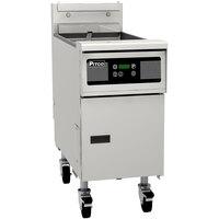 Pitco® SG14SD Natural Gas 40-50 lb. Floor Fryer with Digital Controls - 110,000 BTU