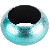 Aqua 2 3/8 inch Round Acrylic Napkin Ring
